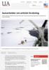 Samarbeider om arktisk forskning
