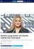Sandra Lyng svarer VG: Derfor avbrøt hun intervjuet