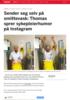 Sender seg selv på smittevask: Thomas sprer sykepleierhumor på Instagram