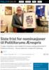 Siste frist for nominasjoner til Politiforums Ærespris