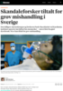Skandaleforsker tiltalt for grov mishandling i Sverige