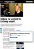 Solberg tar avstand fra Listhaug-utspill