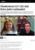 Studenten Liv (21) må feire jula i utlandet
