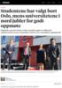 Studentene har valgt bort Oslo, mens universitetene i nord jubler for godt oppmøte