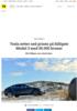 Tesla setter ned prisen på billigste Model 3 med 50.000 kroner