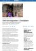 Tøft for migranter i Zimbabwe