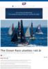The Ocean Race utsettes i ett år