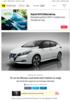 To av tre Nissan Leaf med stort batteri er solgt