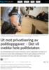 Ut mot privatisering av politioppgaver: - Det vil svekke hele politietaten