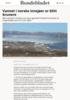 Vannet i norske innsjøer er blitt brunere