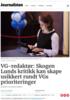 VG-redaktør: Skogen Lunds kritikk kan skape usikkert rundt VGs prioriteringer