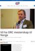 Vil ha ORC mesterskap til Norge