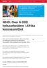 WHO: Over 6 000 helsearbeidere i Afrika koronasmittet